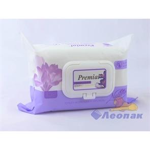 Салфетка влажная  Premial Natural  с экстратом крокуса (100шт/1уп/6уп)