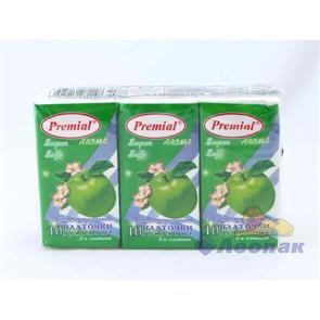 Платочки бумажные  PREMIAL  с ароматом зеленое яблоко (6шт/1уп/40уп)