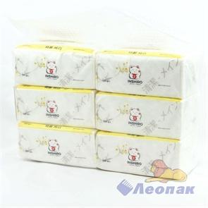Салфетки бумажные INSHIRO EkoNeko 2-хсл. в пакете (150л./1шт/6шт/1уп/20уп) аромат. EN-429