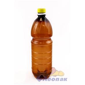 Бутылка ПЭТ 1,0л. (коричневая) (100шт.)П