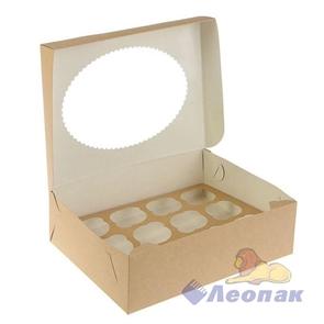 Упаковка ECO MUF 12 (100шт/1кор)  д/маффинов 330*250  h100