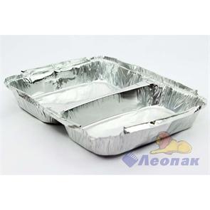 Контейнер алюминиевый SPM2L  227*177*30мм (840мл) 2-хсекционный ДНО (100шт./8уп.) 5727