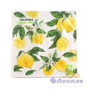 Салфетка  Lemon NEW  (20шт/15уп) 33х33см  3х-слойная /Булгари