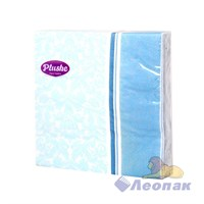 Салфетка PLUSHE  Цветочная рамка  (15шт/30уп) 33х33см  2х-слойная 9716