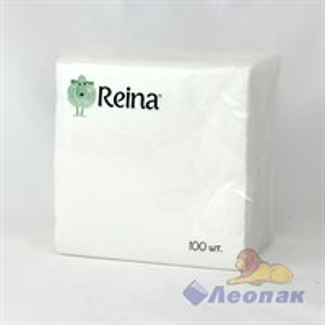 Салфетка белая  REINA  (100шт/60уп)