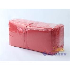 Салфетка красная Форест меш (400шт/15уп) 24х24см