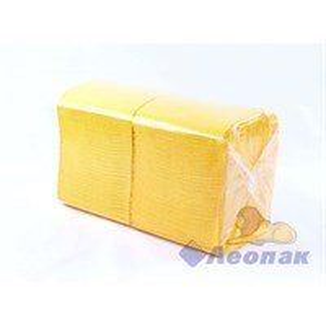 Салфетка желтая Форест меш (400шт/15уп) 24х24см