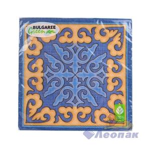 Салфетка  Казахский орнамент  (20шт/15уп) 33х33см  3х-слойная /Булгари