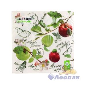 Салфетка  Наливные яблоки  (20шт/15уп) 33х33см  3х-слойная /Булгари