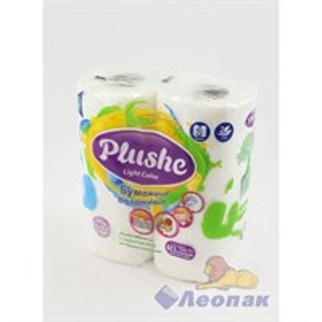 Полотенца бумажные  PLUSHE Light  белые 2-х сл. (2шт/12уп)