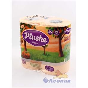 Бумага туалетная  PLUSHE Classic  Абрикос 2-х сл.(4шт/12уп)