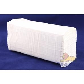 Полотенца бумажные листовые белые 1-сл. (15уп=200лист) V сл.( в пакетах) (100% ЦЕЛЛЮЛОЗА)