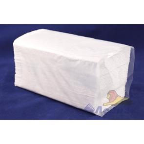 Полотенца бумажные листовые белые 1-сл. (15уп=250лист) V сл.( в пакетах) (МК)
