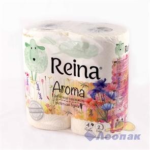 Бумага туалетная  REINA Aroma  Цветочная свежесть 2-х сл.(4шт/12уп)