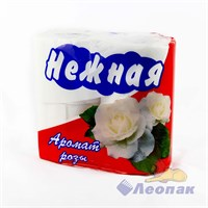 Бумага туалетная  НЕЖНАЯ  АРОМА Роза 2-х сл. (4шт/1уп/12у)