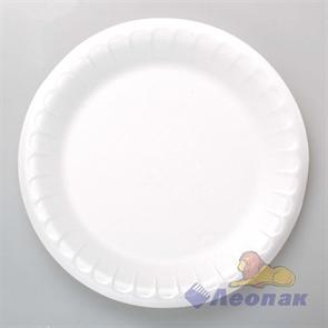 Тарелка фуршетная вспененная D 205 белая (100шт/1200 шт)
