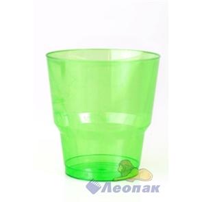 Стакан 200/220мл ЗЕЛЕНЫЙ (50/1000)  Кристалл арт.1004