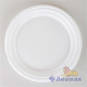 Тарелка  десертная белая d=165мм (100/2400) ПолиЭр