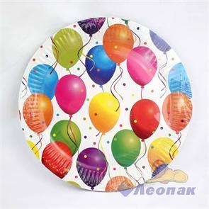 Тарелка картонная D=23см (10шт/48уп) ПРАЗДНИК /Булгари