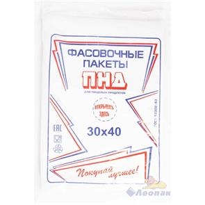 П/ф 30х40-15мкм (1/10уп.) Ижевск 1700550010