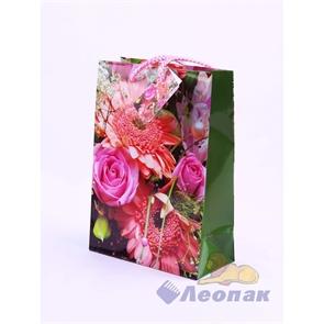 F1032 Пакет ламинир. 14*20*7  Цветы  (20шт/24уп)   10диз