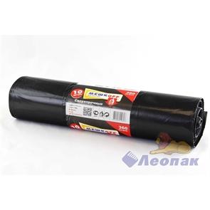 Мешок мусорный 360л (10шт/5рул) черный ПВД  МЕШКОFF  сверхпрочный