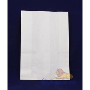 Пакет бумажный 210х140х70 б/печати, белый ламинированный, 70 гр/м2