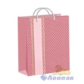 Пакет мягкий пластик с пластик.ручками 40х30   СЮРПРИЗ розовый  (40) ТИКО