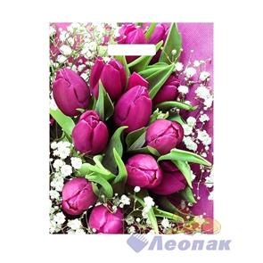 П-выр.ручка 31х40-60мкм  Розовые тюльпаны NEW  ламинат (500) ТИКО