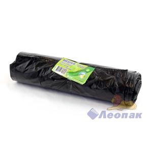 Мешок мусорный 180л с завязками, черный (10шт/12рул)  Чистая Планета