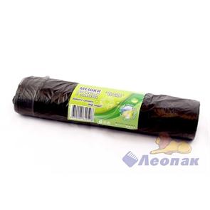 Мешок мусорный 120л с завязками, черный (10шт/20рул)  Чистая Планета