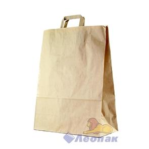 Мешок- Сумка бумажный 35х15х45см, КРАФТ, с плоскими ручками (200шт)