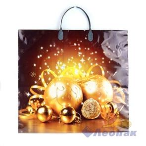 Пакет с пластик.ручками 38х35  Золотые Шары  (100)