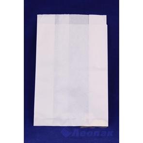 Пакет бумажный VB 225*140*60  (100/2000шт) Б/П белый