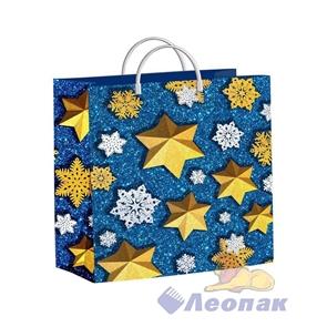 Пакет мягкий пластик 30х30-140мкм  Снежные звезды  (40) /ТИКО