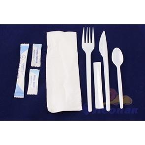 Набор 8/1 (500) со специями (вил.16,лож.чай.,,нож,салф.,соль,сахар,перец,,зубочист.)