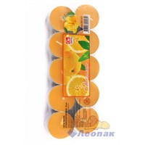 Свечи чайные Апельсин (20шт/1уп/12уп) арт.800-005