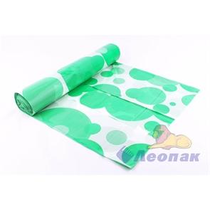 Скатерть ПВД 1,1х1,8м-40мкм белая Шарики зеленые (5шт/20рул.) СП