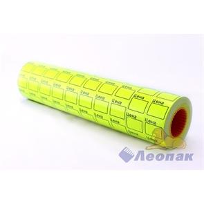 Этикет-лента 29*28 (желтая,прямоугольная) 10х16кмп/160шт