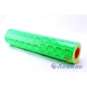 Этикет-лента 29*28 (зеленая,прямоугольная) 10х16кмп/160шт