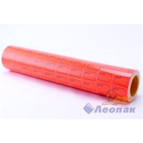 Этикет-лента 29*28 (красная,прямоугольная) 10х16кмп/160шт