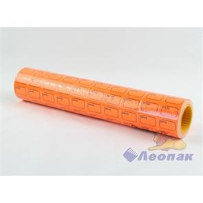 Этикет-лента 30*20 (оранжевая,прямоугольная) 10х10кмп