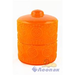 Конфетница  Каприз  2-х ярусная (оранжевый) (12шт)