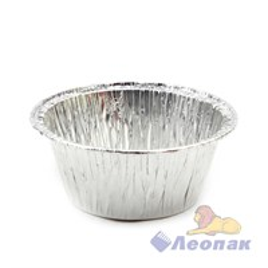 Форма алюминиевая круглая G-край (130мл) h=35мм 86х55мм (100шт/20уп) 402-726