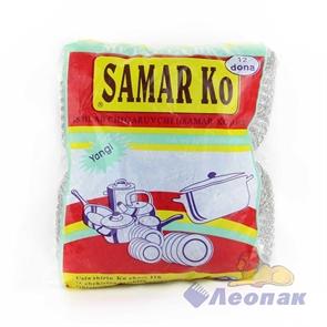 Губка металлическая для посуды Самарка жесткая (12шт/уп/100уп)