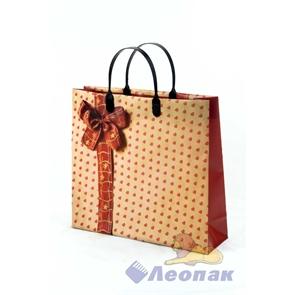 Пакет мягкий пластик с пластик.ручками 30х30   Тактильные сердечки  (40) ТИКО