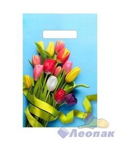 П-выр.ручка 20х30-30мкм Тюльпаны на голубом (100/3000) ТИКО