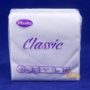 Салфетка белая PLUSHE  Classik  (50шт/30уп)