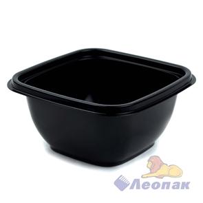 Емкость-контейнер1212 - 500мл ЧЕРНАЯ126*126*60мм  (500/50) / ПолиЭр
