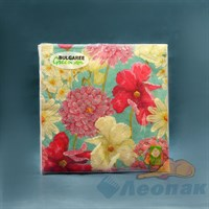 Салфетка  Цветочный вальс  (20шт/15уп) 33х33см  3х-слойная /Булгари